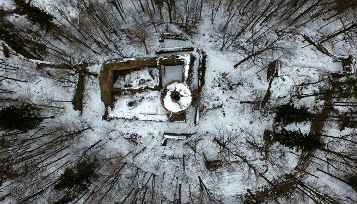 Zamek Cisy - widok z góry