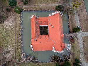 Zamek w Wojnowicach - od góry